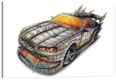 Godzilla Car Canvas Art Print