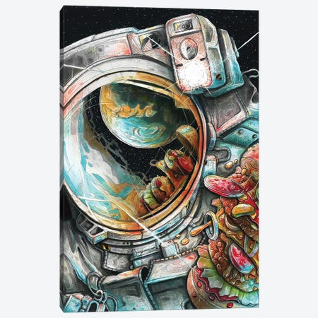 Cosmonaut Canvas Print #TIV13} by Tino Valentin Canvas Wall Art