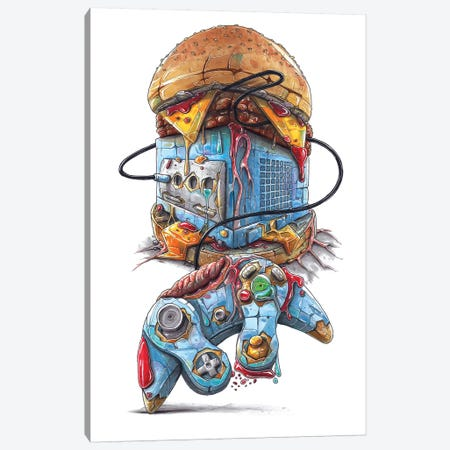 Delightful Abomination Canvas Print #TIV14} by Tino Valentin Canvas Art Print