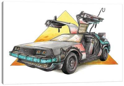 DeLorean Canvas Art Print