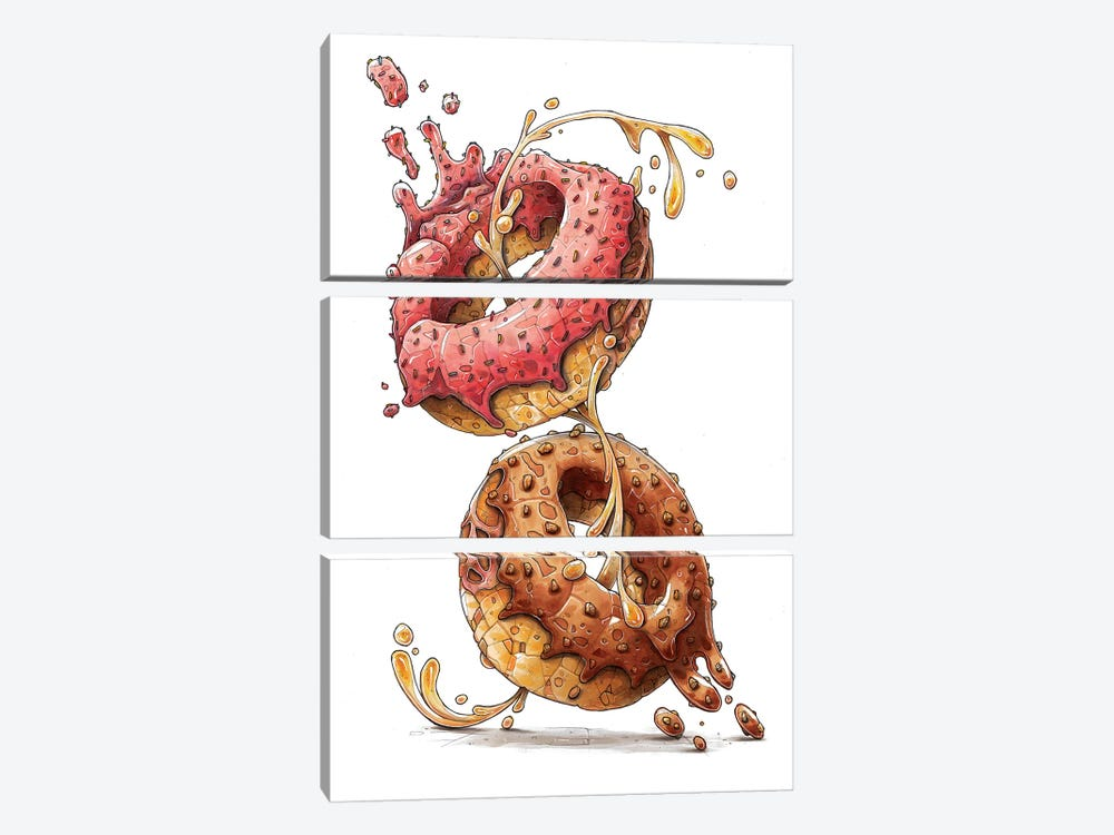 Donuts by Tino Valentin 3-piece Art Print