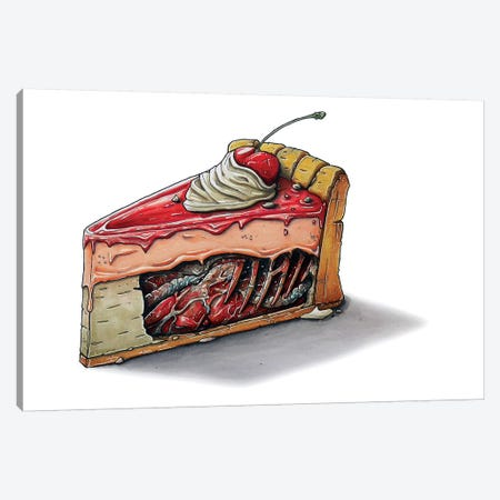 Cake Canvas Print #TIV17} by Tino Valentin Art Print
