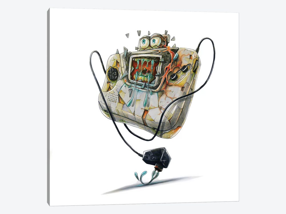 Game Gear by Tino Valentin 1-piece Art Print
