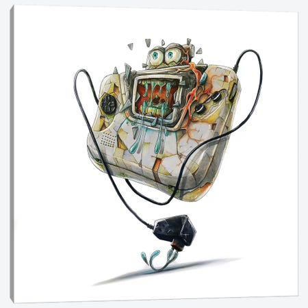Game Gear Canvas Print #TIV18} by Tino Valentin Canvas Art