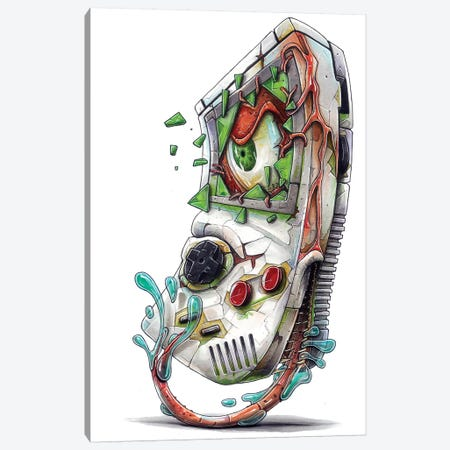 Game Boy Canvas Print #TIV19} by Tino Valentin Canvas Wall Art