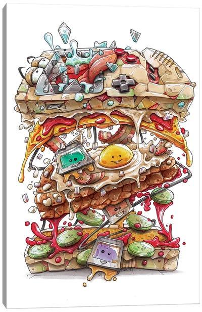 Game Burger Boy Canvas Art Print