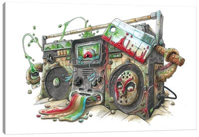 Ghettoblast Canvas Art Print