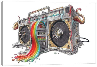 Ghettoblaster Canvas Art Print