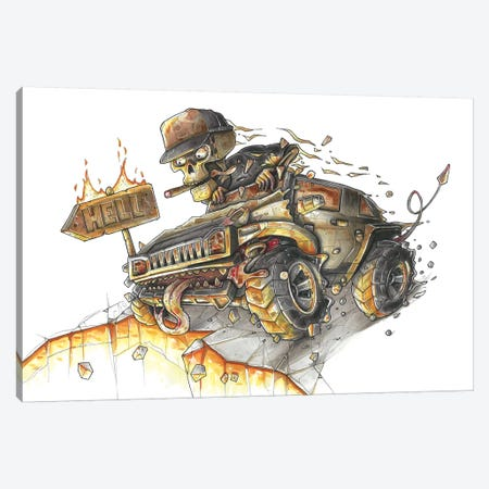 Hummer Hell Canvas Print #TIV25} by Tino Valentin Canvas Art