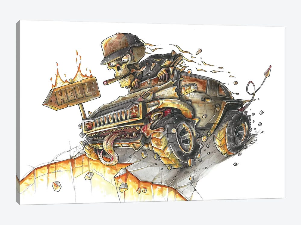 Hummer Hell by Tino Valentin 1-piece Canvas Print
