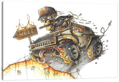 Hummer Hell Canvas Art Print