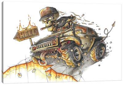 Hummer Hell Canvas Art Print