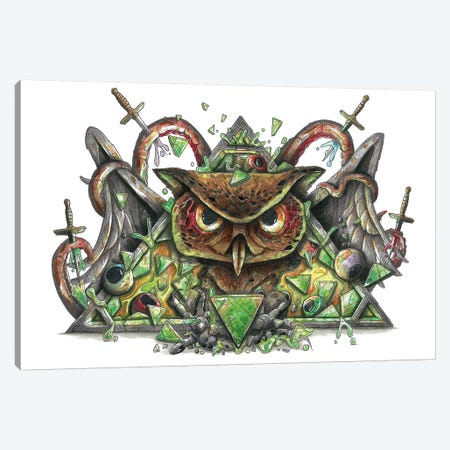 Very Owl Canvas Print #TIV26} by Tino Valentin Canvas Wall Art