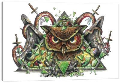 Very Owl Canvas Art Print
