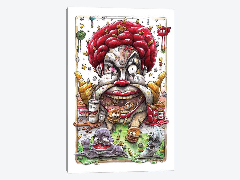 McD's  by Tino Valentin 1-piece Art Print