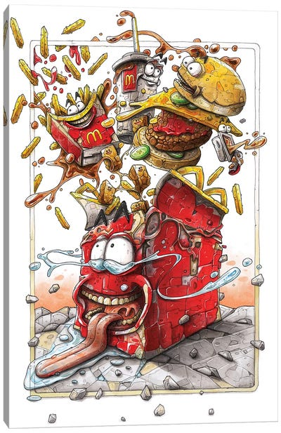 McD's Canvas Art Print