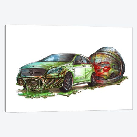 Mercedes Alien Canvas Print #TIV29} by Tino Valentin Canvas Print
