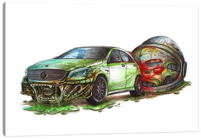 Mercedes Alien Canvas Art Print