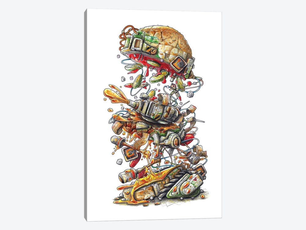 Metal Slug Burger by Tino Valentin 1-piece Canvas Art Print