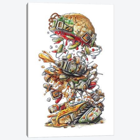 Metal Slug Burger Canvas Print #TIV30} by Tino Valentin Canvas Art