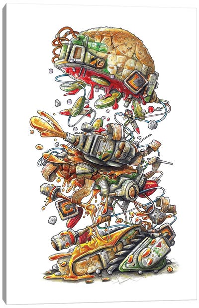 Metal Slug Burger Canvas Art Print