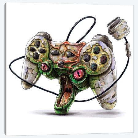 Playstation Canvas Print #TIV32} by Tino Valentin Canvas Artwork
