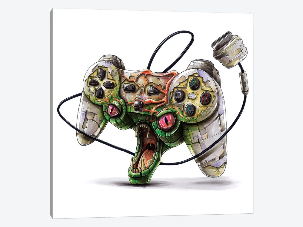 Playstation by Tino Valentin 1-piece Art Print