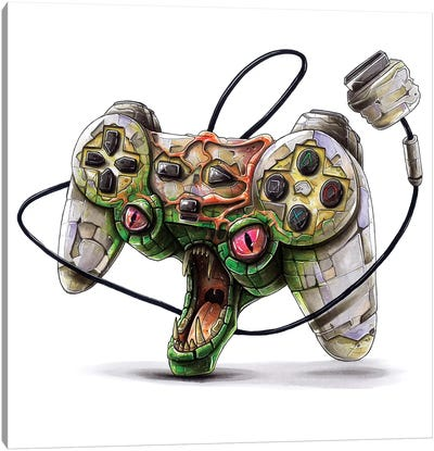 Playstation Canvas Art Print