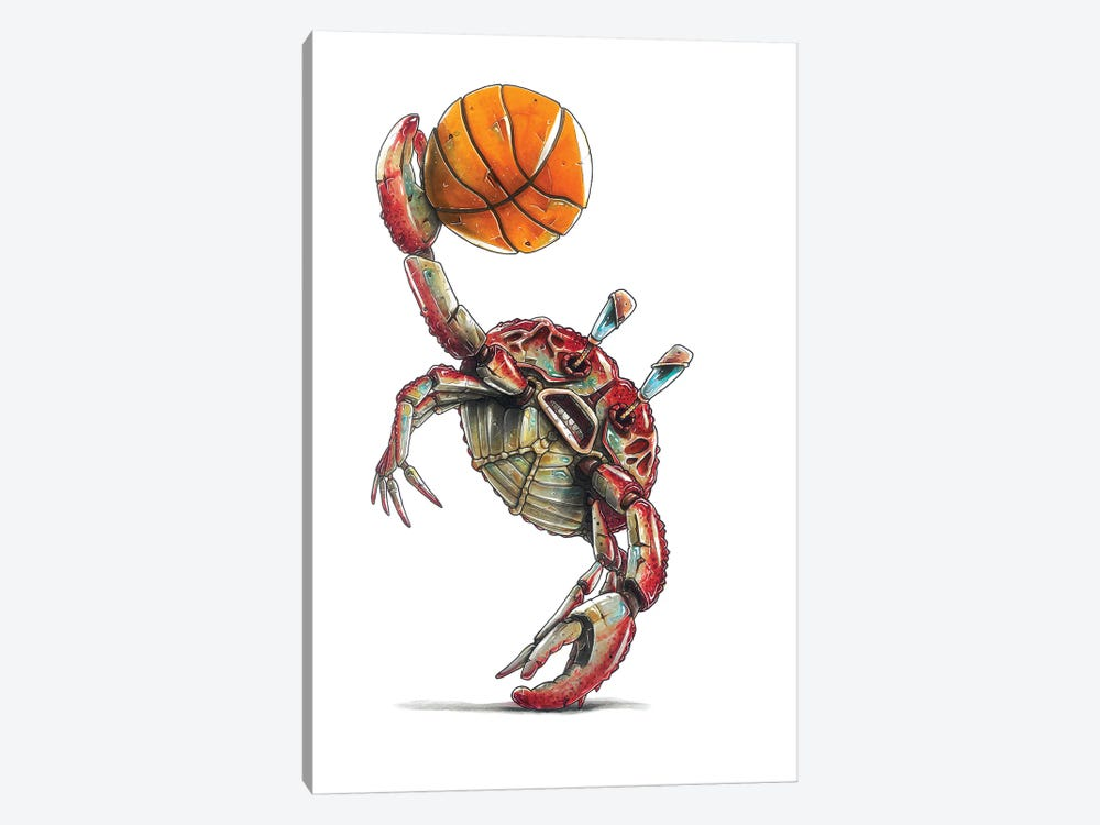 Red Crab by Tino Valentin 1-piece Canvas Wall Art