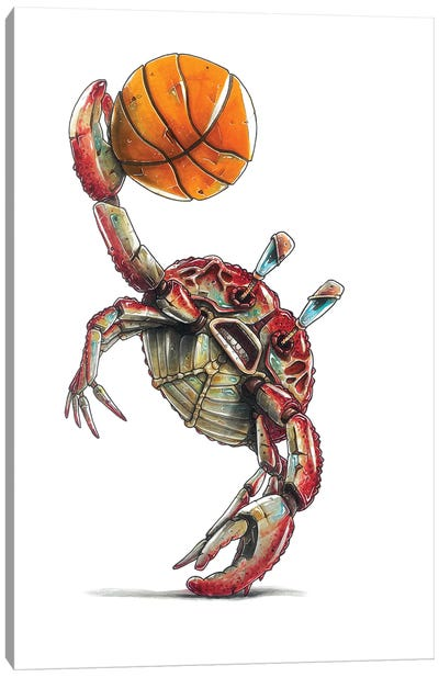 Red Crab Canvas Art Print