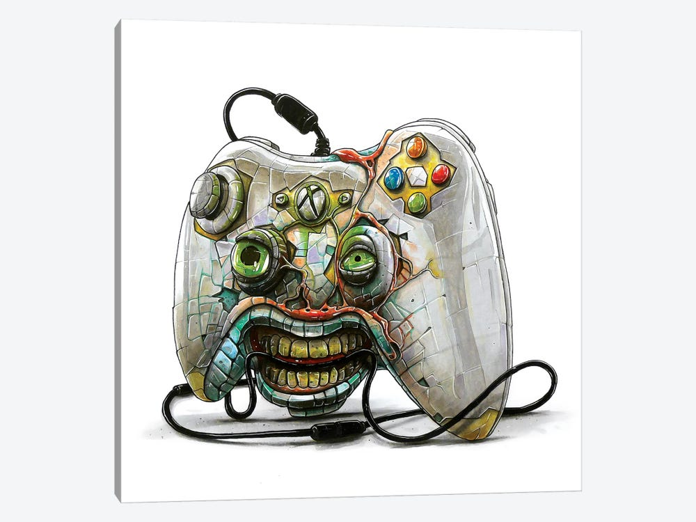 Xbox Monster by Tino Valentin 1-piece Canvas Art Print