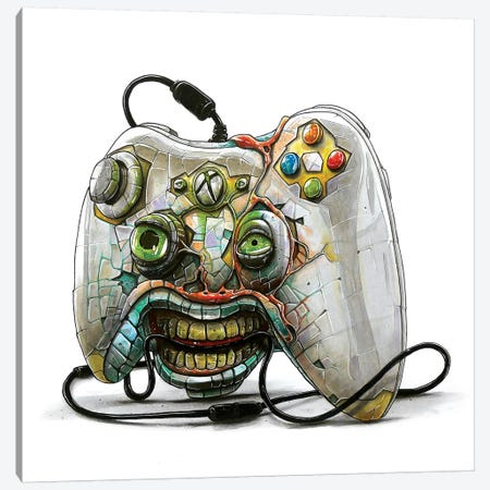 Xbox Monster Canvas Print #TIV38} by Tino Valentin Canvas Art