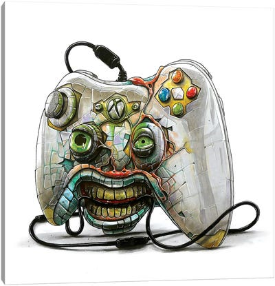 Xbox Monster Canvas Art Print