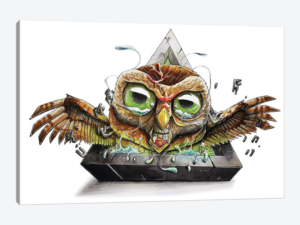 Animal Owl by Tino Valentin 1-piece Canvas Wall Art