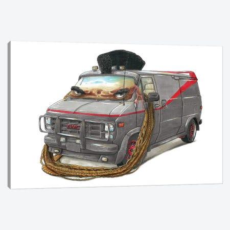 A-Team Truck Canvas Print #TIV5} by Tino Valentin Canvas Wall Art