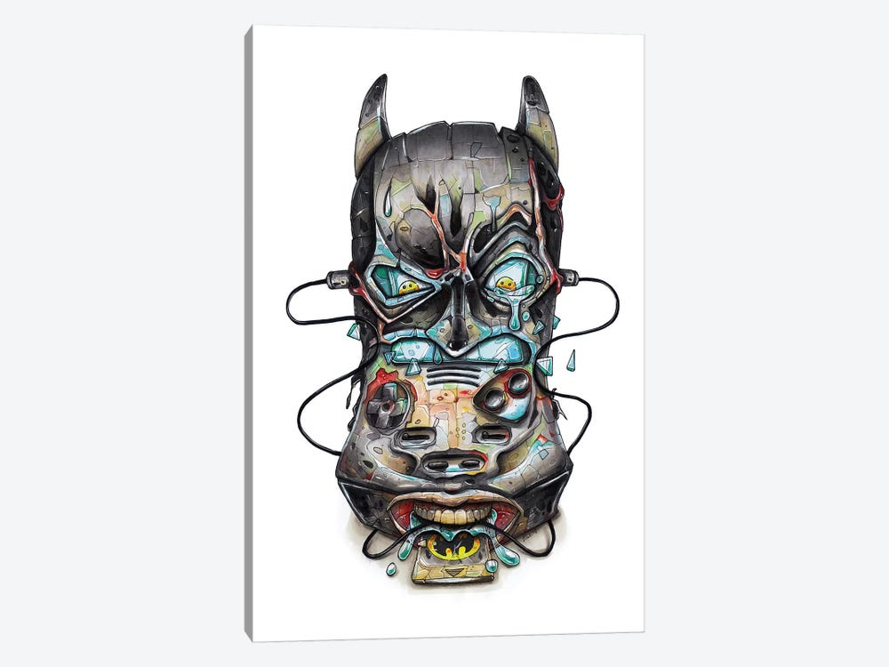 Batman by Tino Valentin 1-piece Canvas Art Print