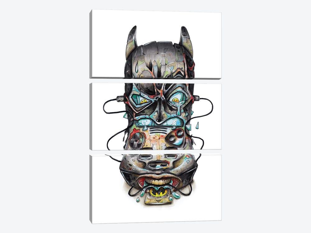 Batman by Tino Valentin 3-piece Canvas Art Print