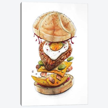 Blast Burger Canvas Print #TIV8} by Tino Valentin Art Print