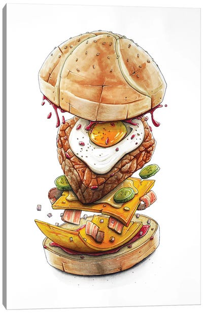 Blast Burger Canvas Art Print