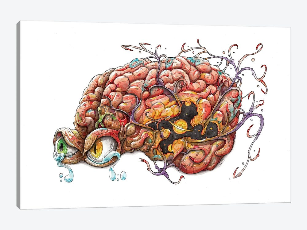 Brain by Tino Valentin 1-piece Canvas Wall Art