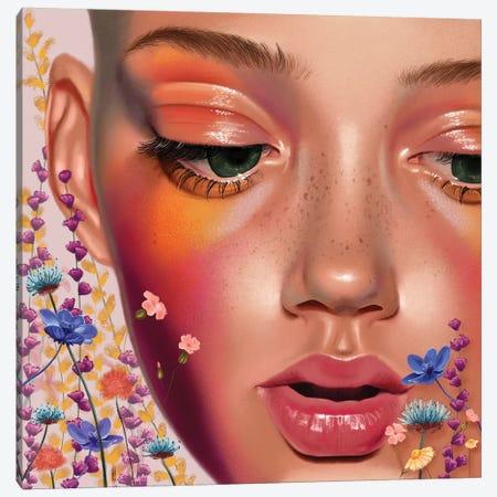 Eyes Like Wildflowers Canvas Print #TJE10} by Teodora Jelenic Art Print