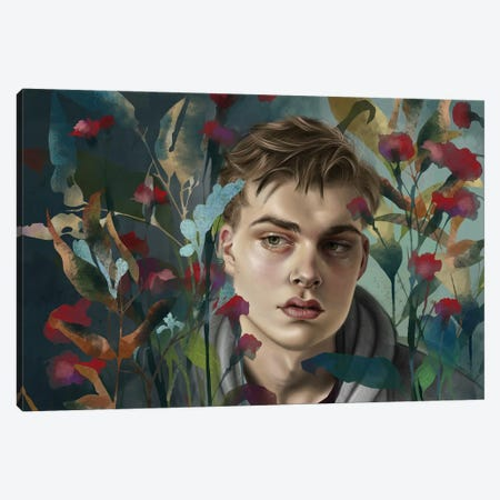 Garden Canvas Print #TJE12} by Teodora Jelenic Canvas Art Print