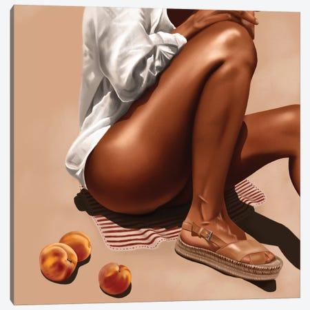 Peachy Summer Canvas Print #TJE31} by Teodora Jelenic Art Print