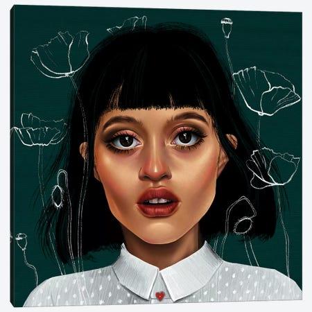Poppy Canvas Print #TJE32} by Teodora Jelenic Canvas Art Print