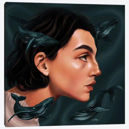Where's My Mind Canvas Print #TJE40} by Teodora Jelenic Canvas Artwork