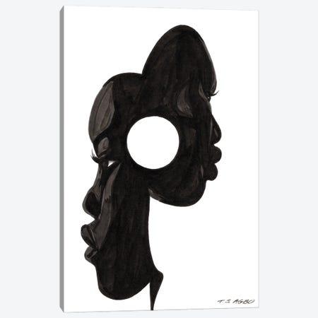 Mask Canvas Print #TJG25} by TJ Agbo Art Print