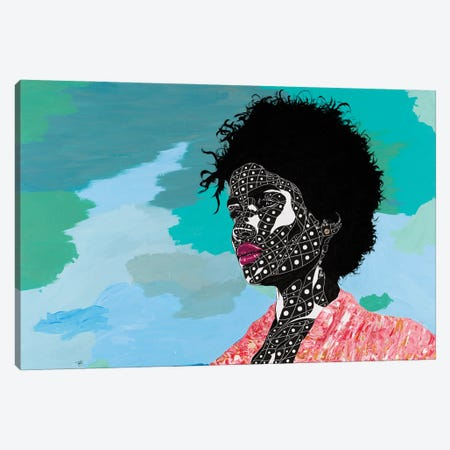 A Vision Of Beauty Canvas Print #TJG2} by TJ Agbo Canvas Artwork