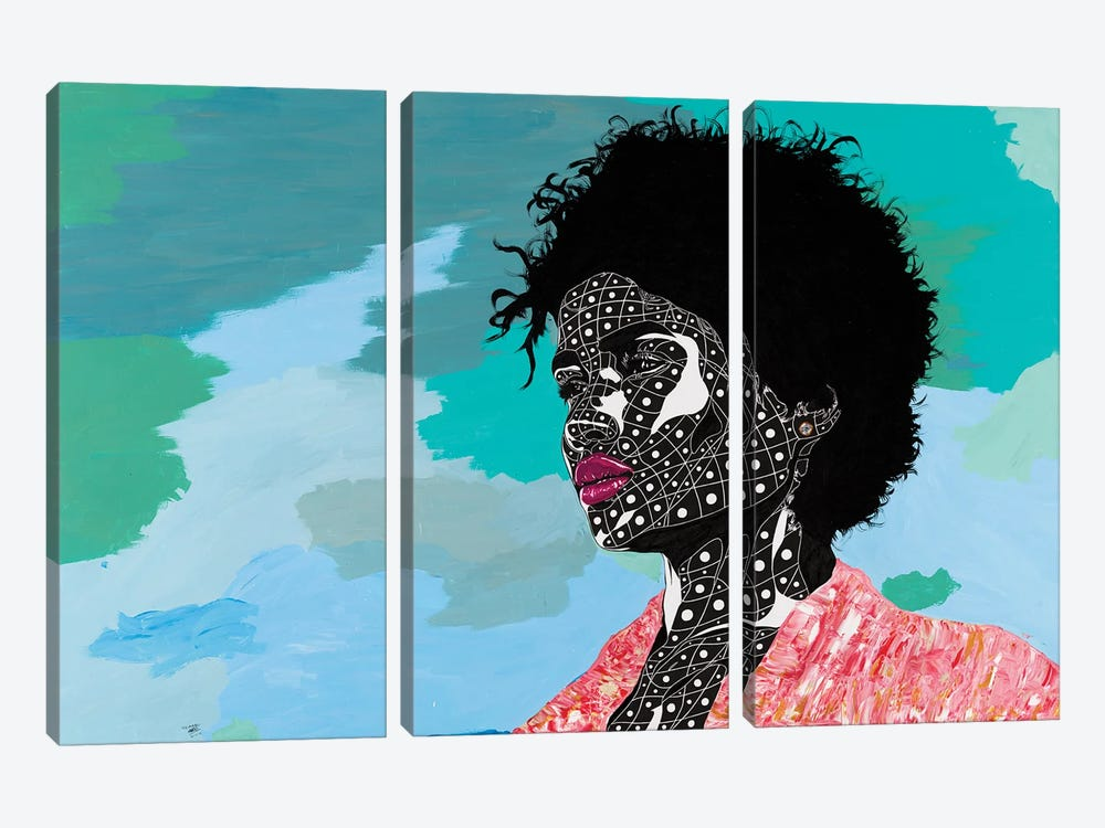 A Vision Of Beauty by TJ Agbo 3-piece Canvas Wall Art