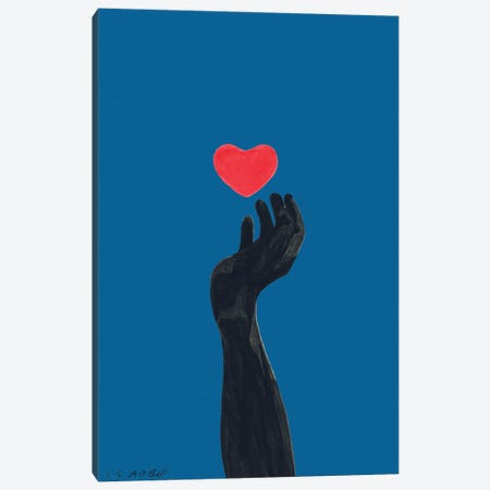 Blind For Love Canvas Print #TJG42} by TJ Agbo Canvas Wall Art