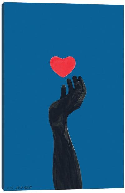 Blind For Love Canvas Art Print